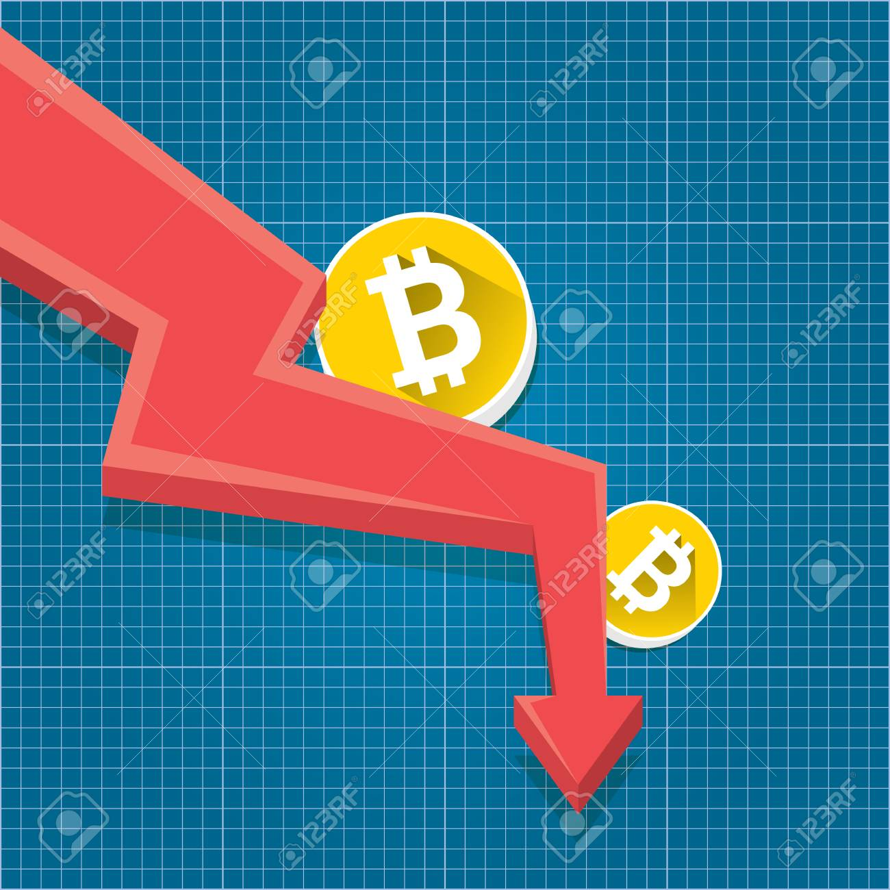 Vector bitcoin market crash graph on blueprint background bitcoin vector vector bitcoin market crash graph on blueprint background bitcoin hype concept vector illusrtation with blank space fo text depreciation of malvernweather Images