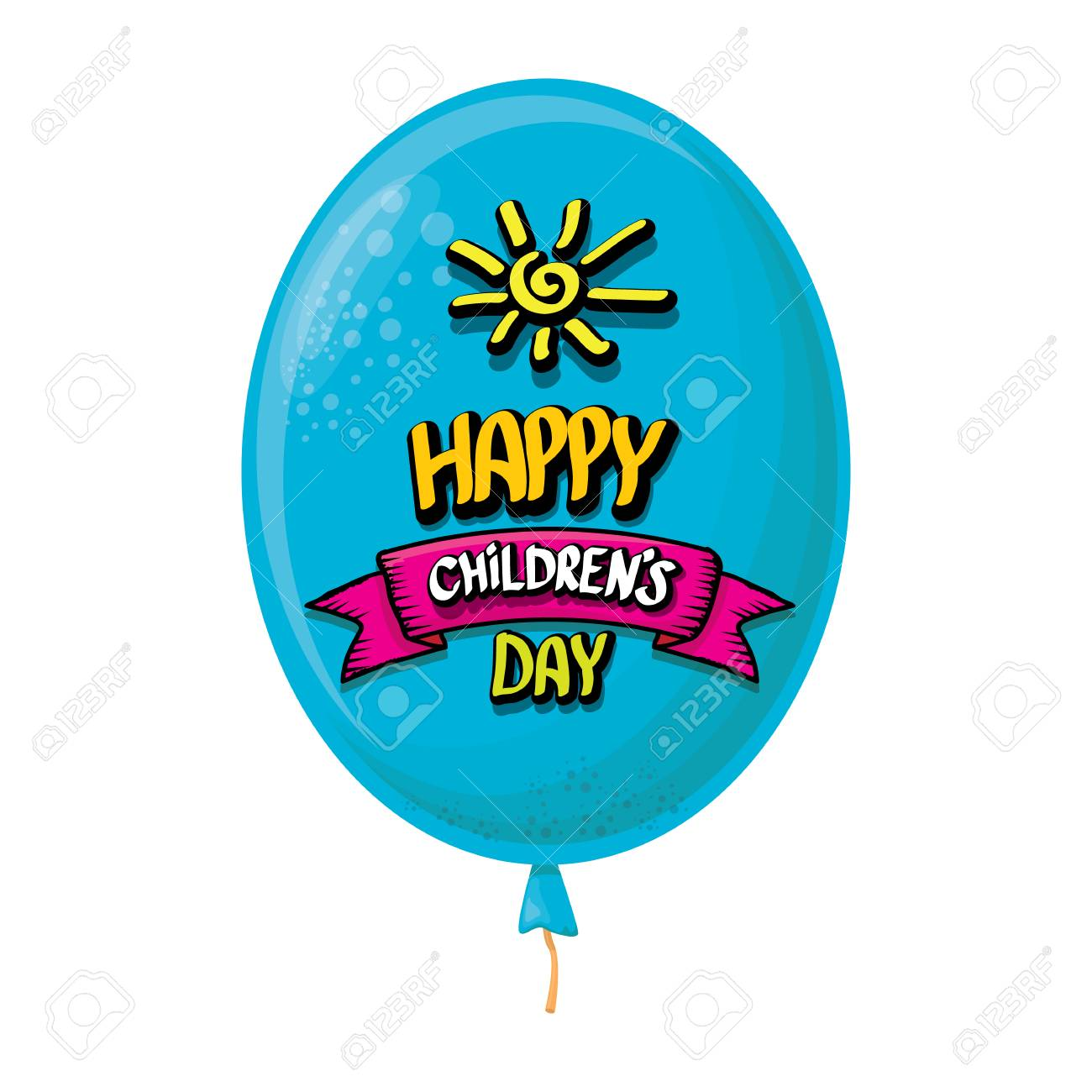 1 June International Childrens Day Background Happy Children