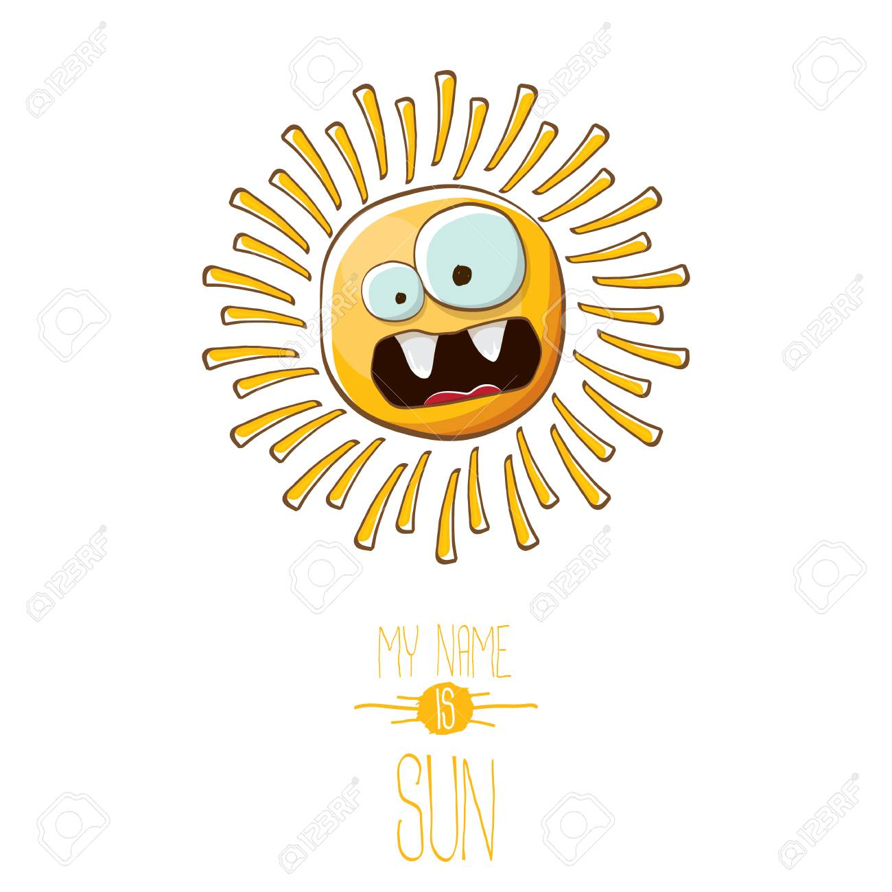 Vector Funky Cartoon Summer Sun Character Isolated On White Background Royalty Free Cliparts Vectors And Stock Illustration Image 103123680