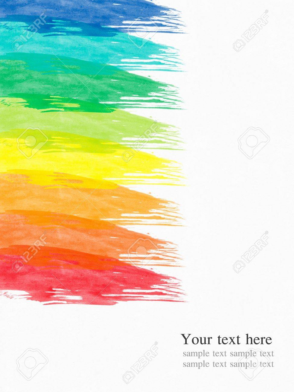 abstract water color paint colorful background Stock Photo - 8993129