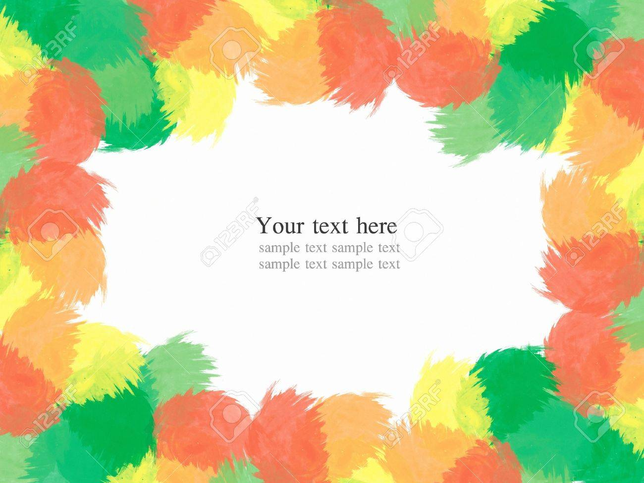 abstract water color paint colorful frame background Stock Photo - 8993132