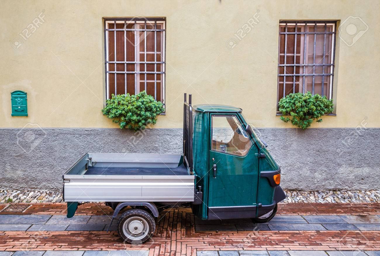 Old Piaggio Ape Car- Albenga, Savona, Liguria, Italy - 48047205