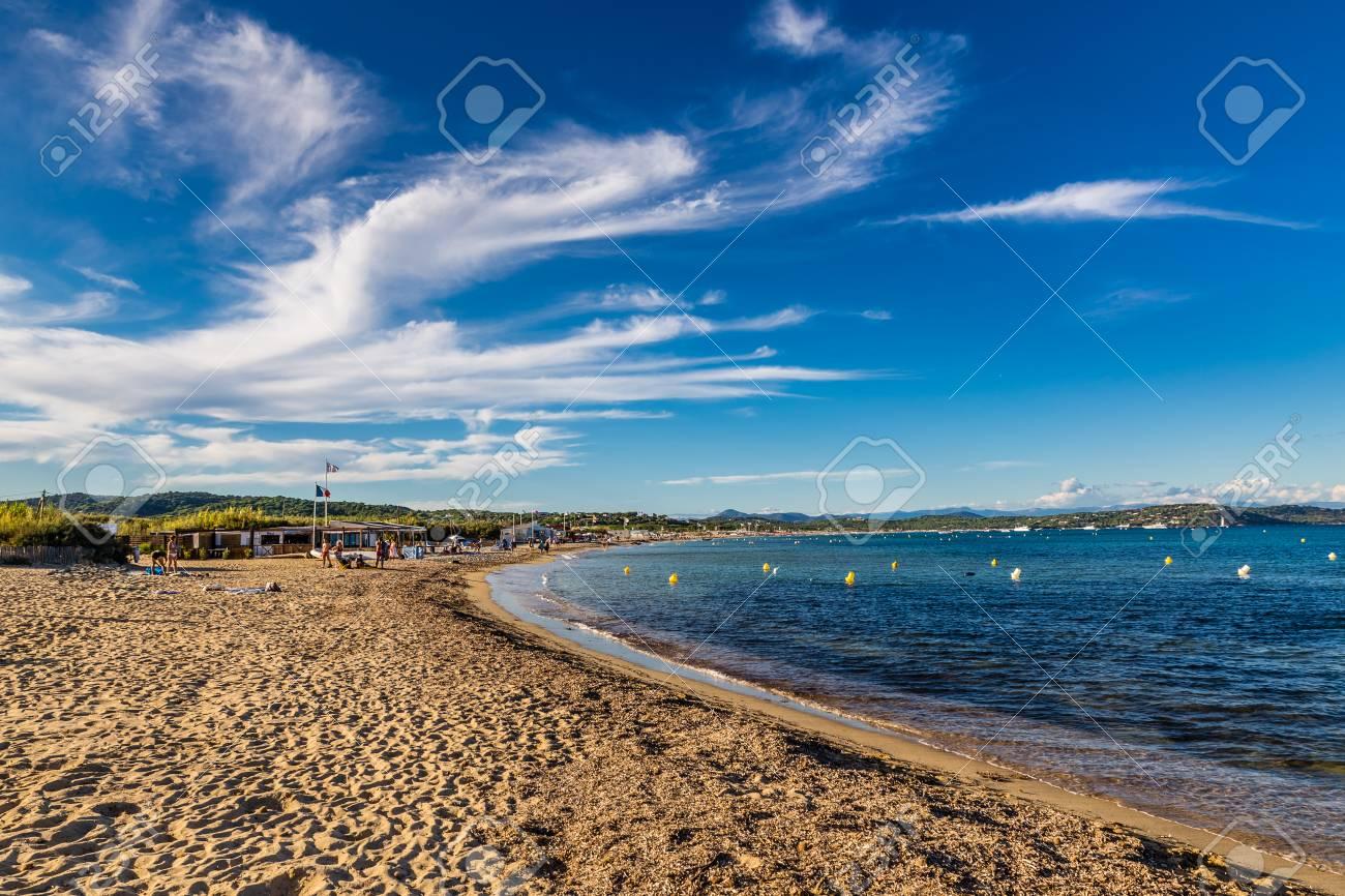 View Of Empty Pampelonne Beach During Summer Day Saint Tropez