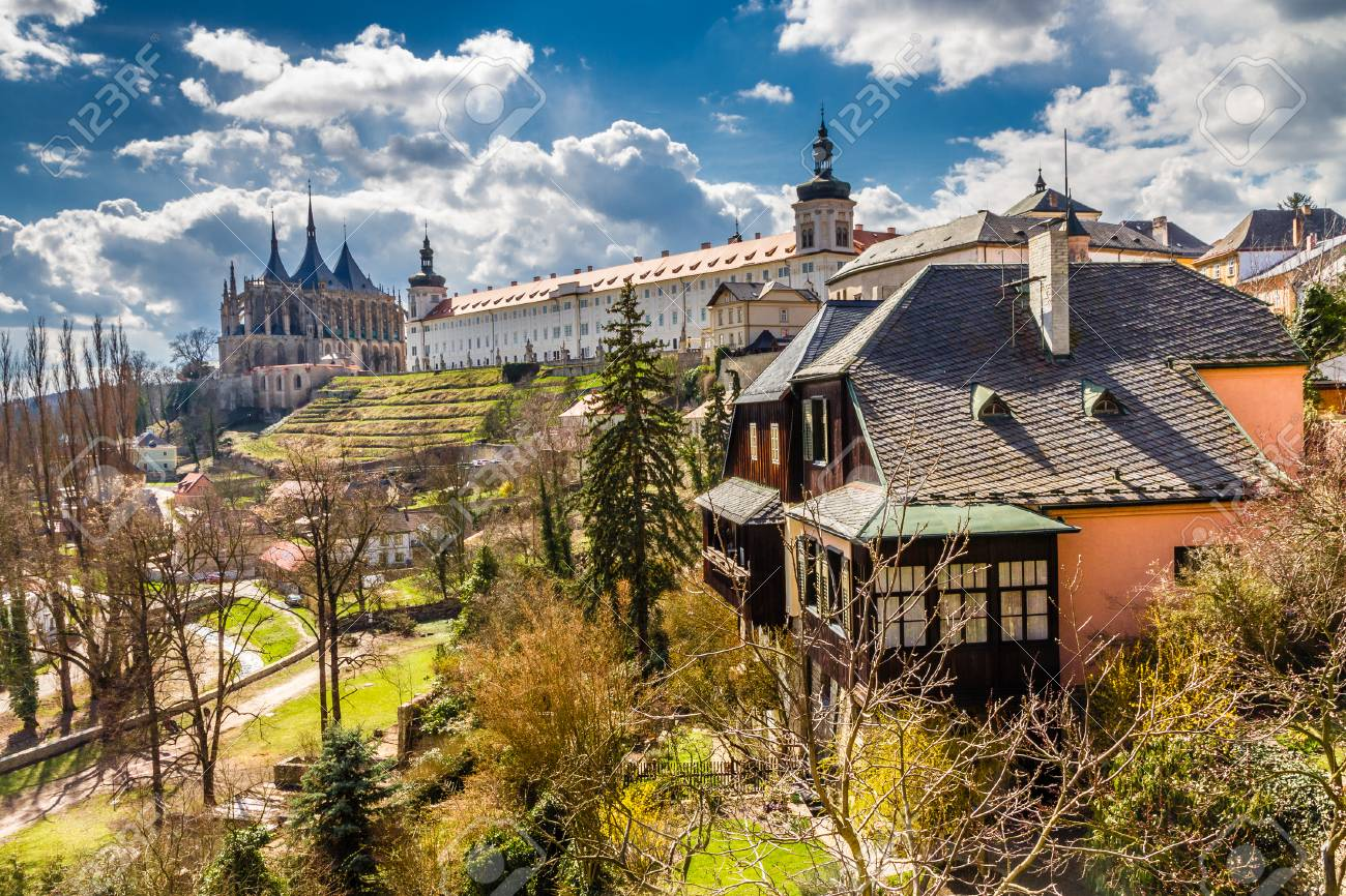 View Of Saint Barbara's Church Cathedral of St Barbara And Jesuit College-Kutna Hora,Czech Republic,Europe - 50464097