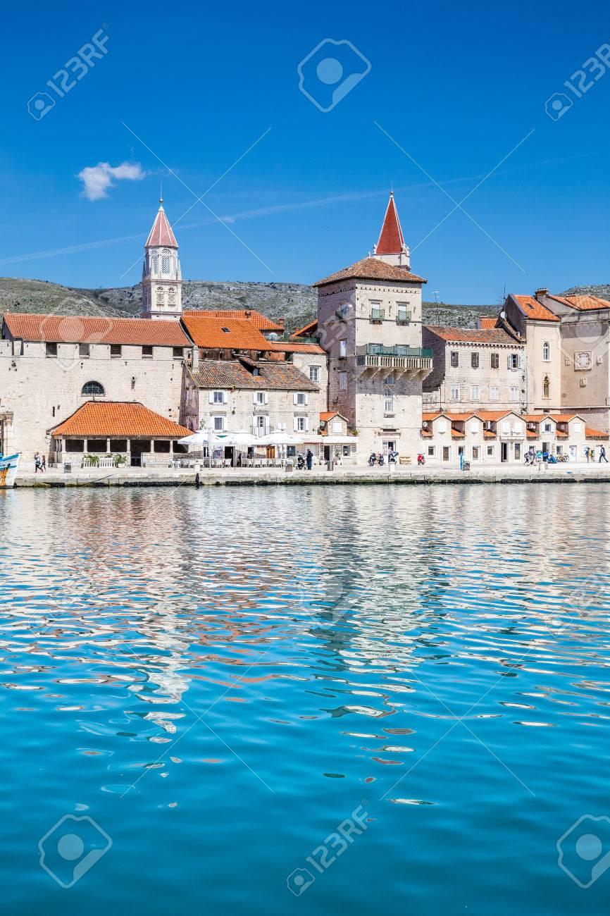 Seafront Promenade With Old Buildings And Church Towers - Trogir, Dalmatia, Croatia, Europe - 55968513