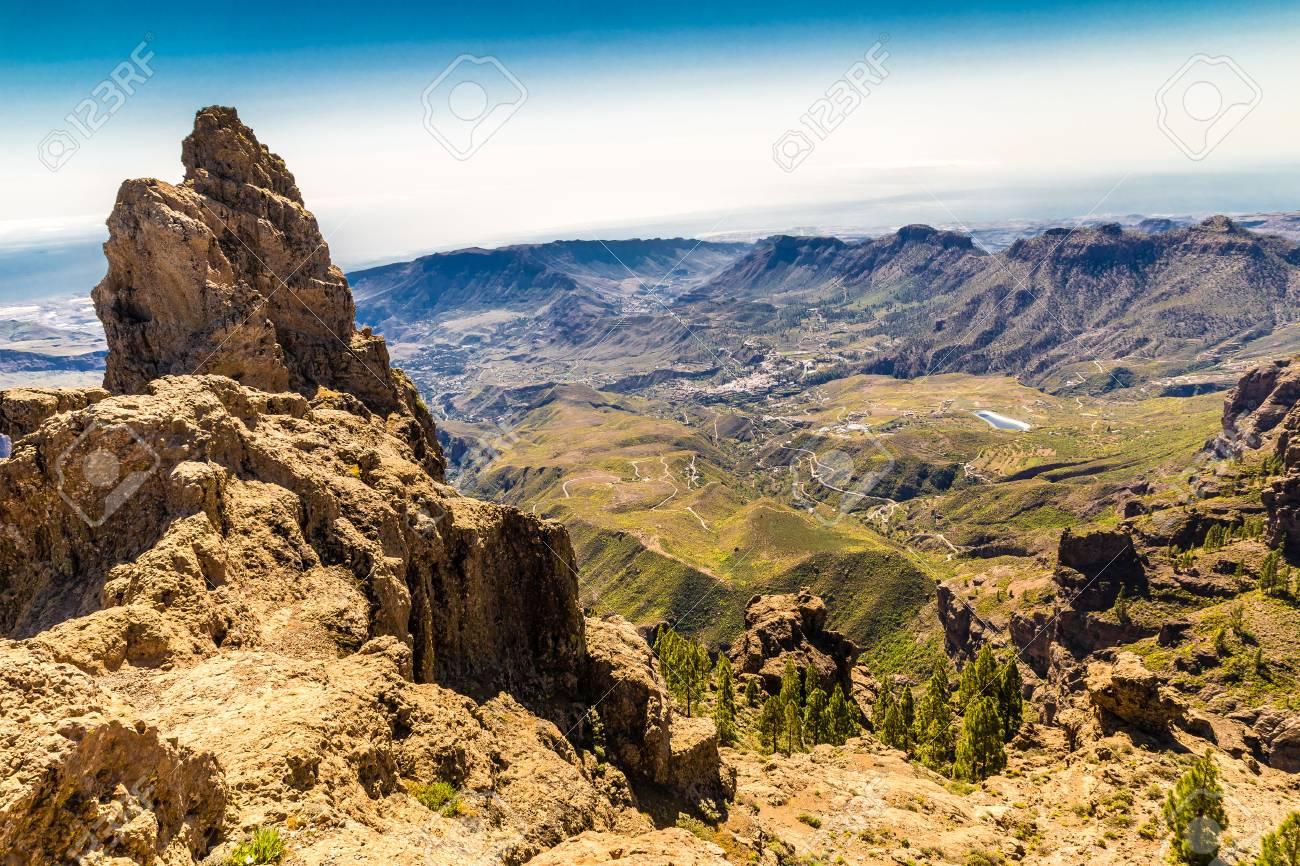Caldera De Tejeda From Cruz de Tejeda Viewpoint - Tejeda, Gran Canaria, Canary Islands, Spain - 58488271