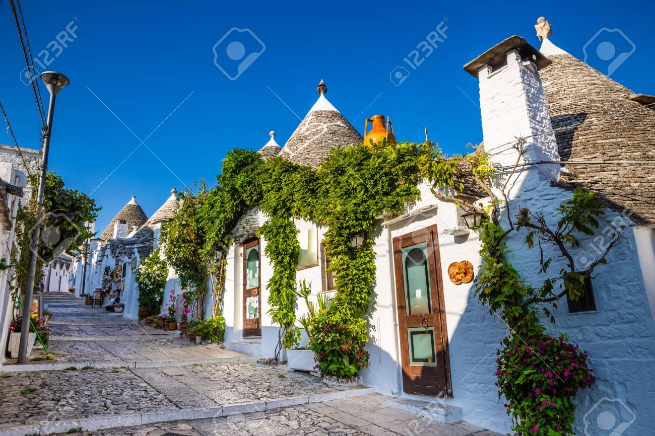 Beautiful Town Of Alberobello With Trulli Houses - Apulia Region, Italy, Europe - 92692805