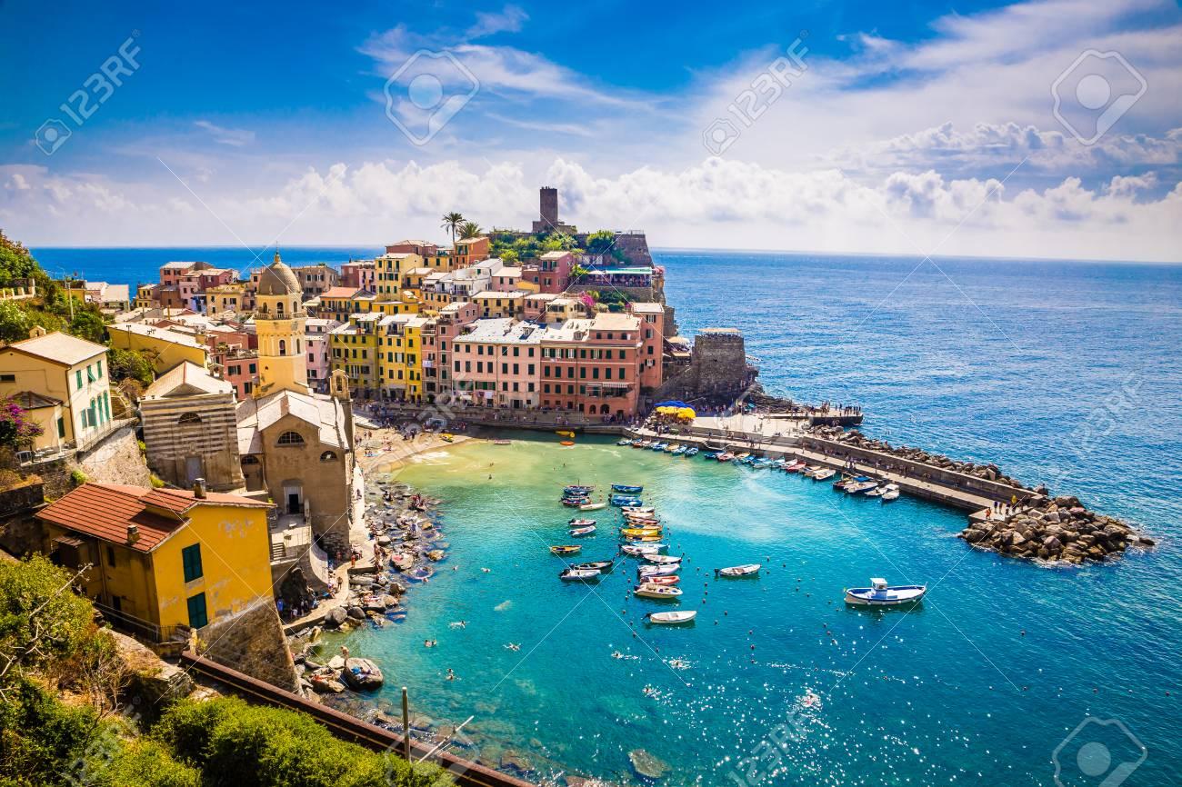 Amazing View Of Vernazza - Cinque Terre, La Spezia Province, Liguria Region, Italy, Europe - 94253648