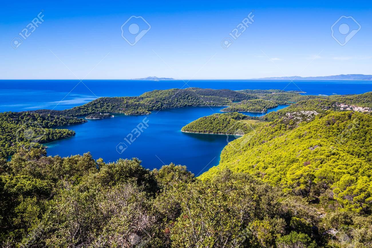 View From Montokuc Viewpoint - Mljet, Dalmatia, Croatia, Europe - 144413259