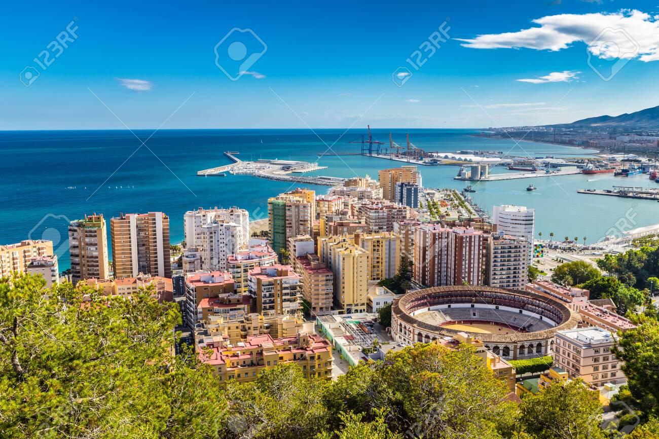 Malaga From Gibralfaro Viewpoint - Andalusia, Costa del Sol, Spain, Europe - 144413260