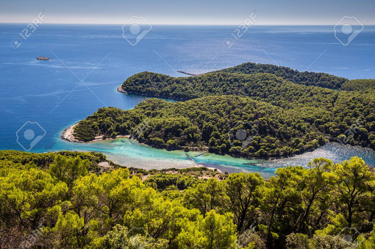 View From Montokuc Viewpoint - Mljet, Dalmatia, Croatia, Europe - 144413262