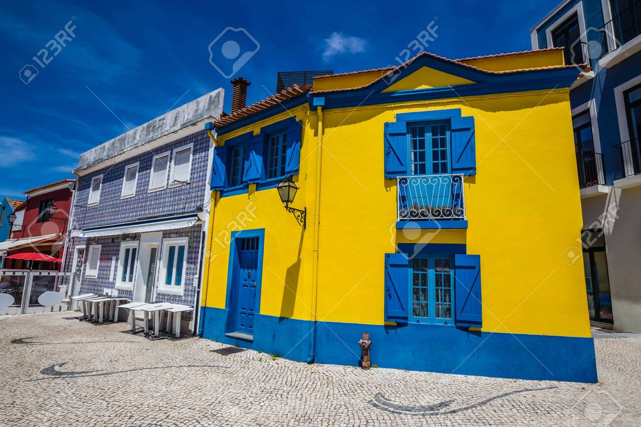 Colorful Buildings In Aveiro, Centro Region of Portugal, Europe - 146811353