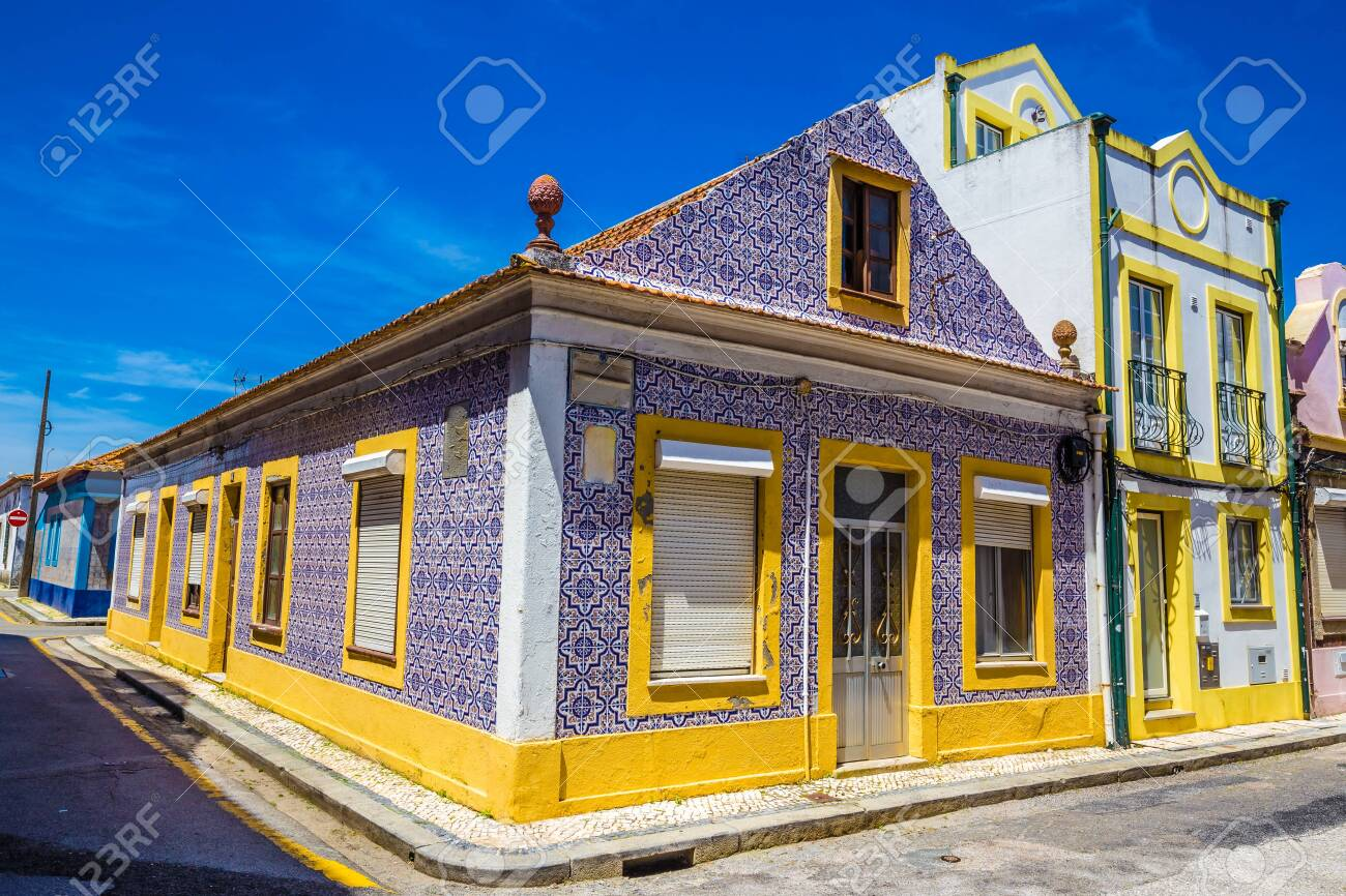Tiled Building In Aveiro, Centro Region of Portugal, Europe - 146811354