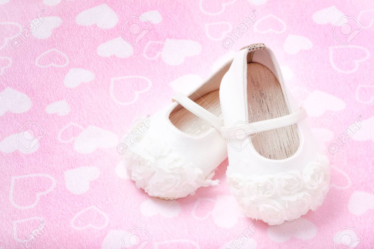 Cute Baby Shoes For Kids On Heart Pink