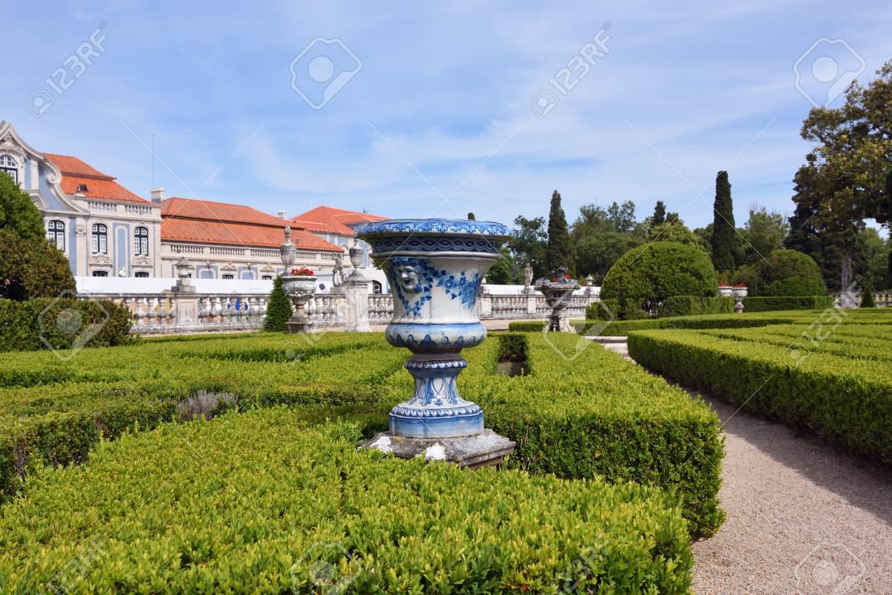 Queluz, Portugal   June 3, 2017. Neptune Gardens In The Queluz Royal Palace