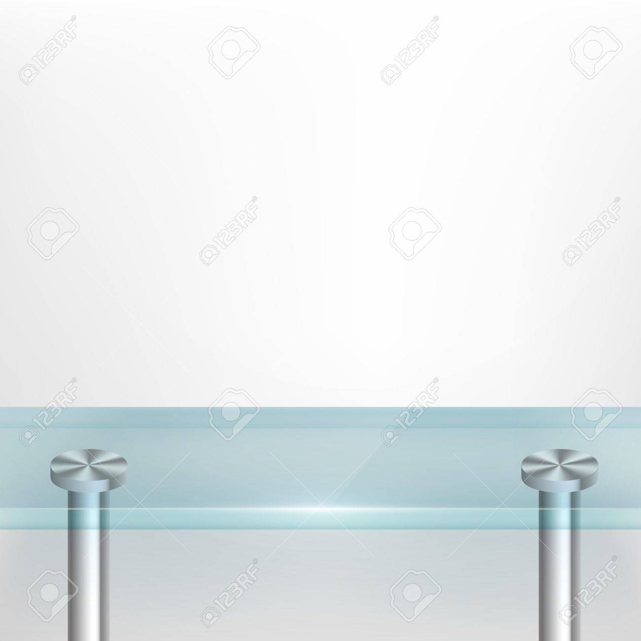 Glass table texture - White Wall Background With Glass Table Stock Vector 19729627