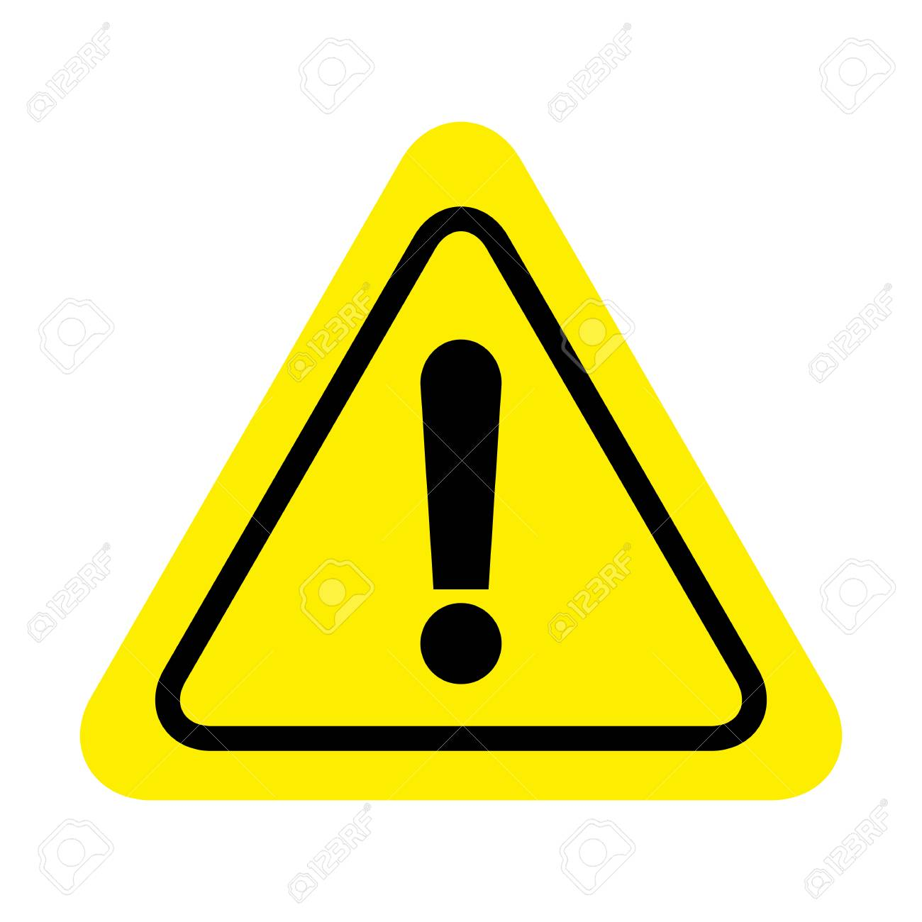 Exclamation danger sign. attention sign icon. Hazard warning attention sign - 125123133