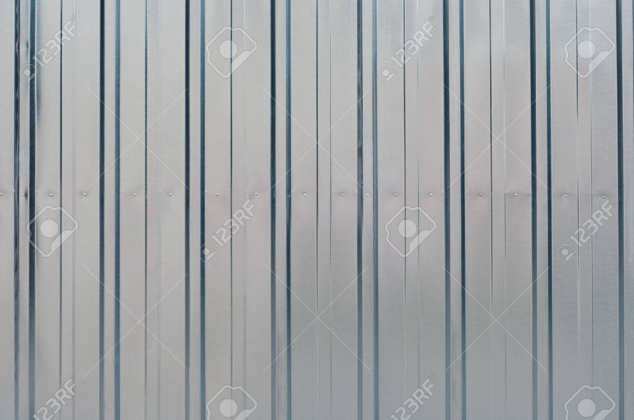 Shiny New Zinc Garage Wall Stock Photo Picture And Royalty Free