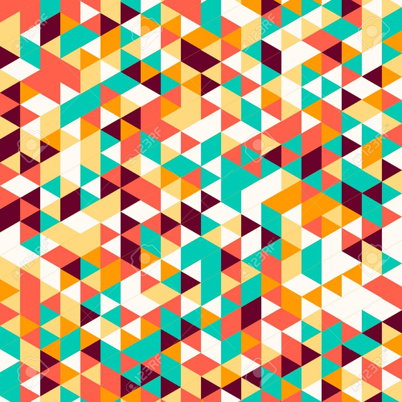Resumen Triángulo Desenfoque De Fondo Multicolor. Ideal Para Gadgets ...