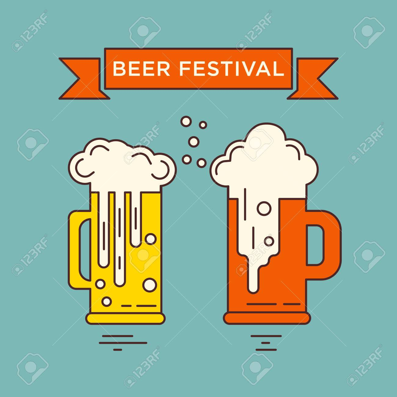 Great concept of vector template with different beer glasses flyers invitation cards and other types of business design great concept of vector template with different beer glasses octoberfest series magicingreecefo Images