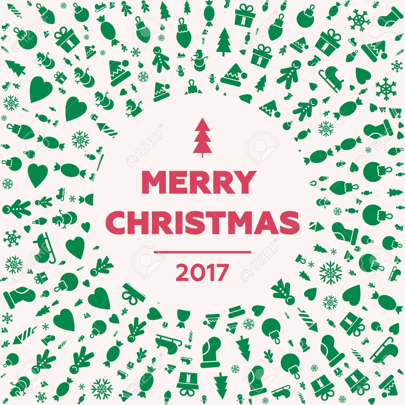 merry christmas and happy new year cards quality vector flat royalty free cliparts vectors and stock illustration image 87777533 123rf com