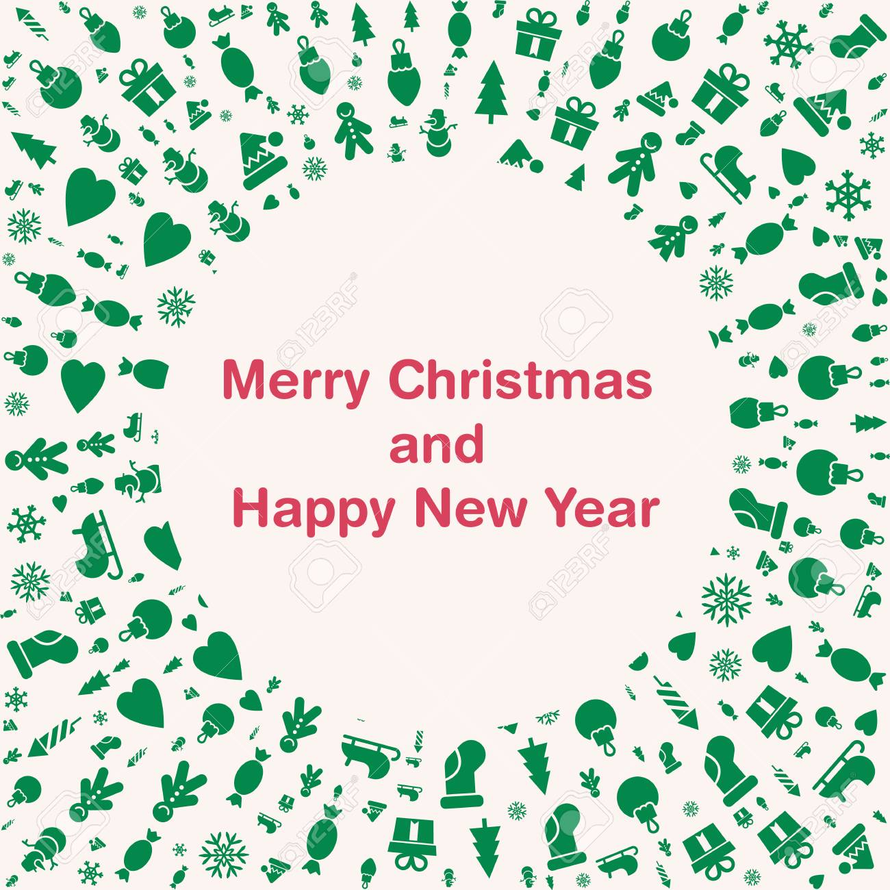 merry christmas and happy new year cards quality vector flat royalty free cliparts vectors and stock illustration image 87777535 123rf com