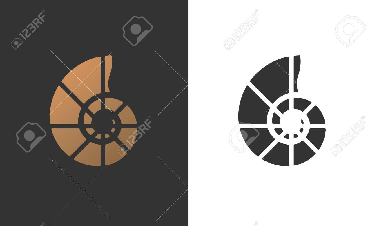 Illustration of seashell nautilus for logo, card, flyer design. - 88049954