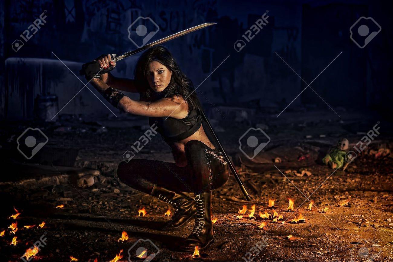 warrior girl Stock Photo - 17387125