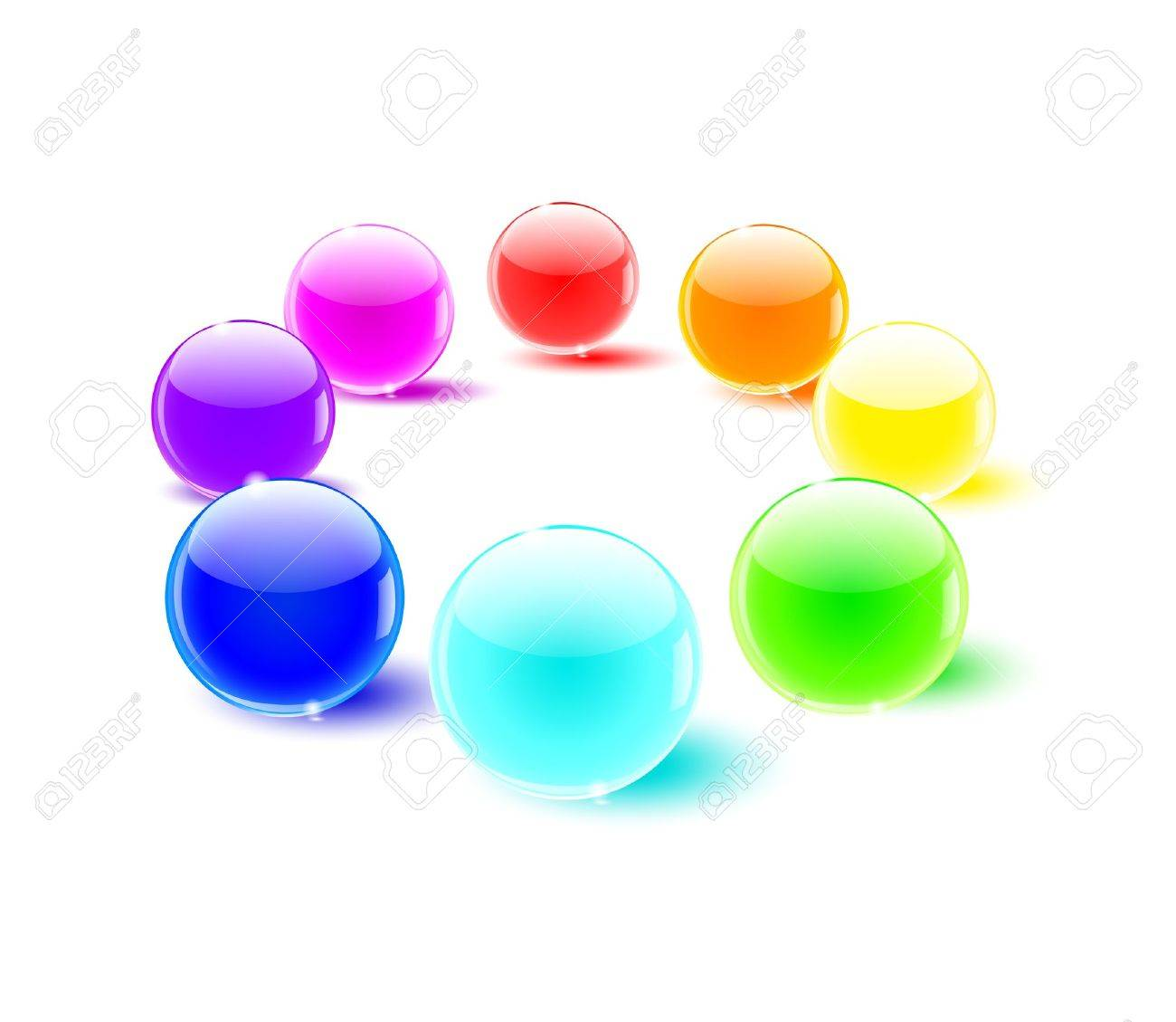 color balls perspective Stock Vector - 9932014