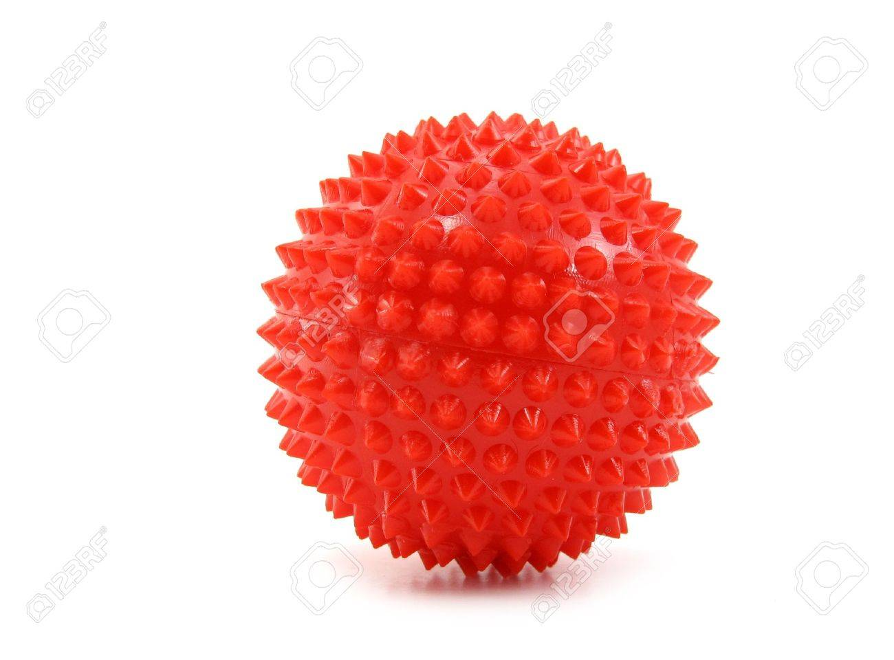 Ball toy red with pins Stock Photo - 6983003