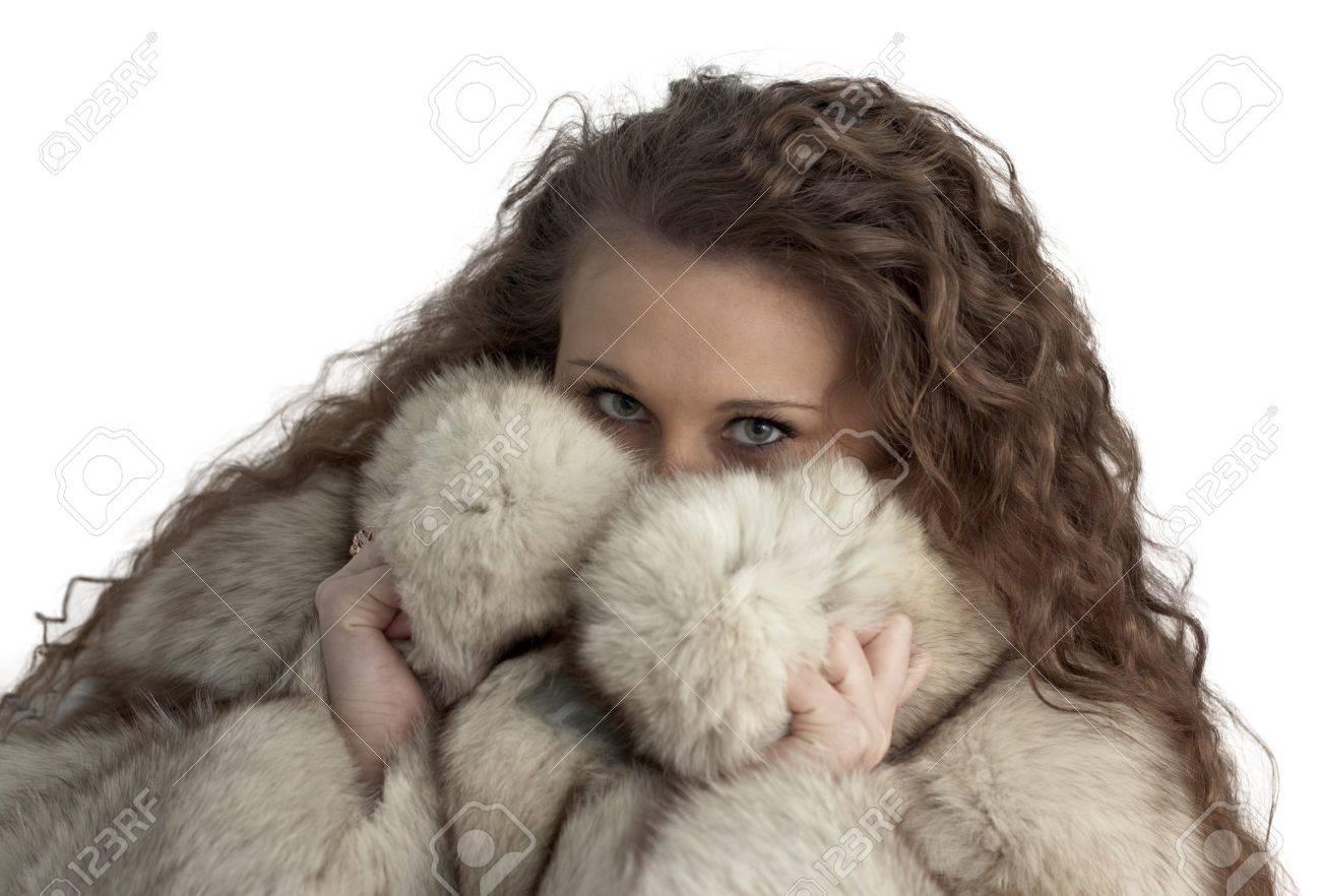 girl in fur Stock Photo - 12231661