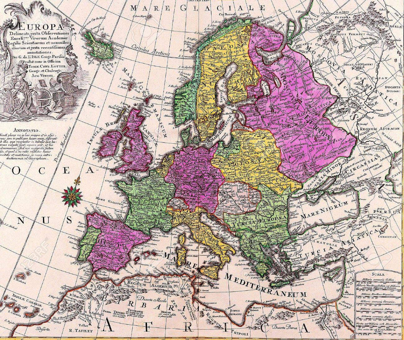 old map of europe as a background stock photo picture and royalty