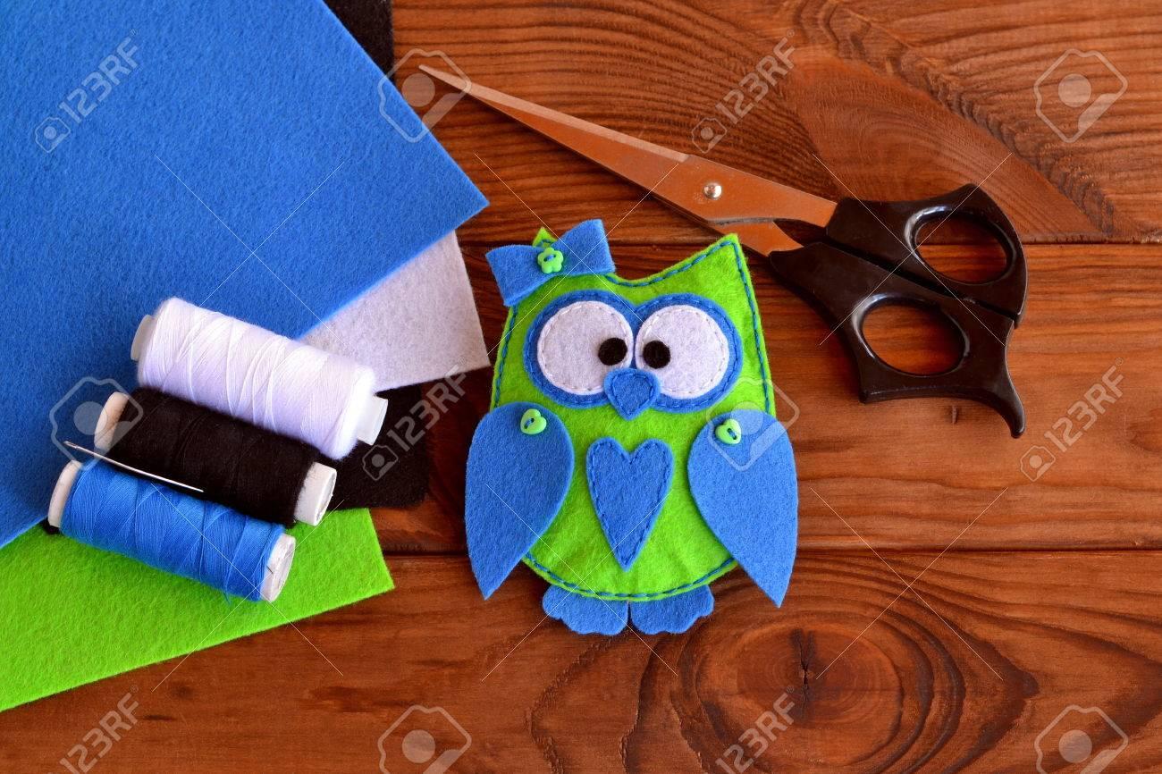 Filz Eulenmuster, Vogel Spielzeug Spielen, Eule Ornamente, Nähen ...