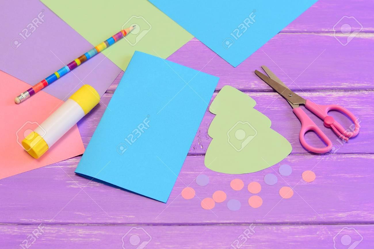 Como Hacer Tarjetas De Navidad De Papel De Colores Paso De Color