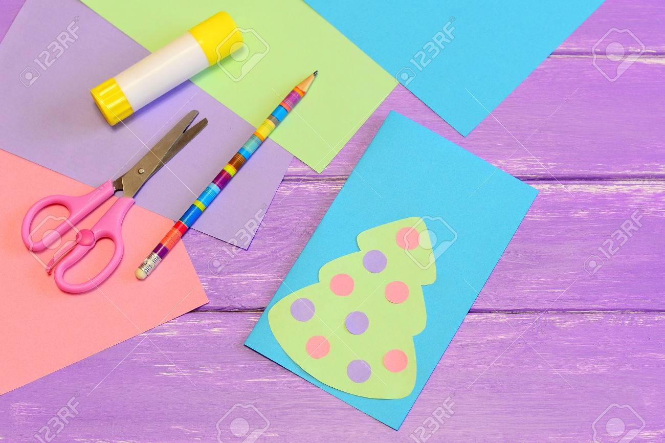 Como Hacer Que La Tarjeta De Navidad Facil De Papel De Colores Paso