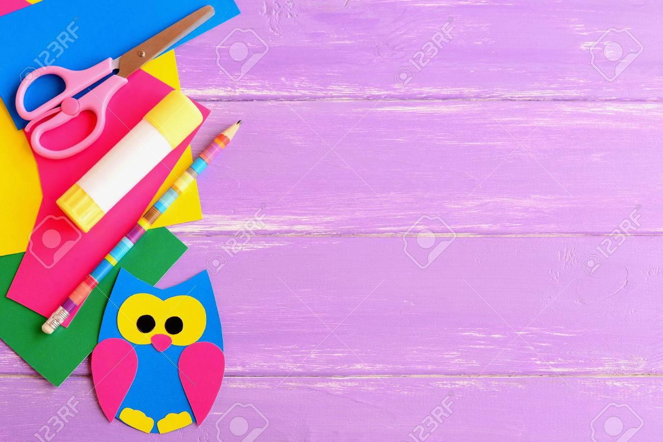 Cute Owl Decor, Stationery. Coloured Cardboard Owl Decor, Scissors ...