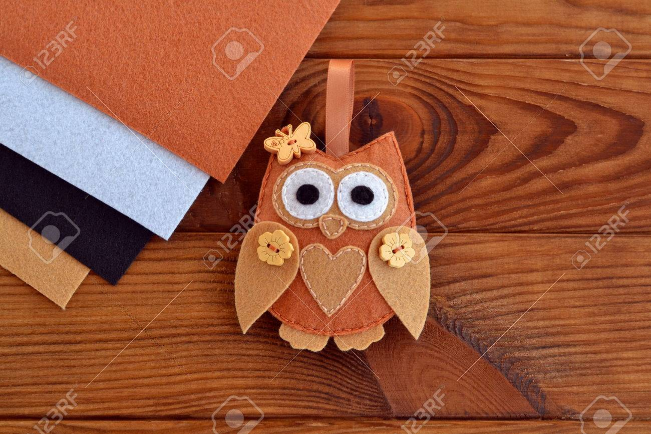 Felt Brown Owl Decoration Valentine S Day Decor Wool Christmas