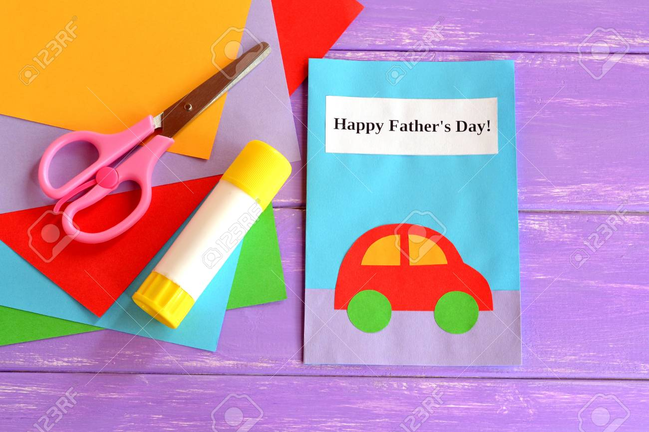 Dad Greeting Card Happy Dads Day Fathers Wishes Childrens