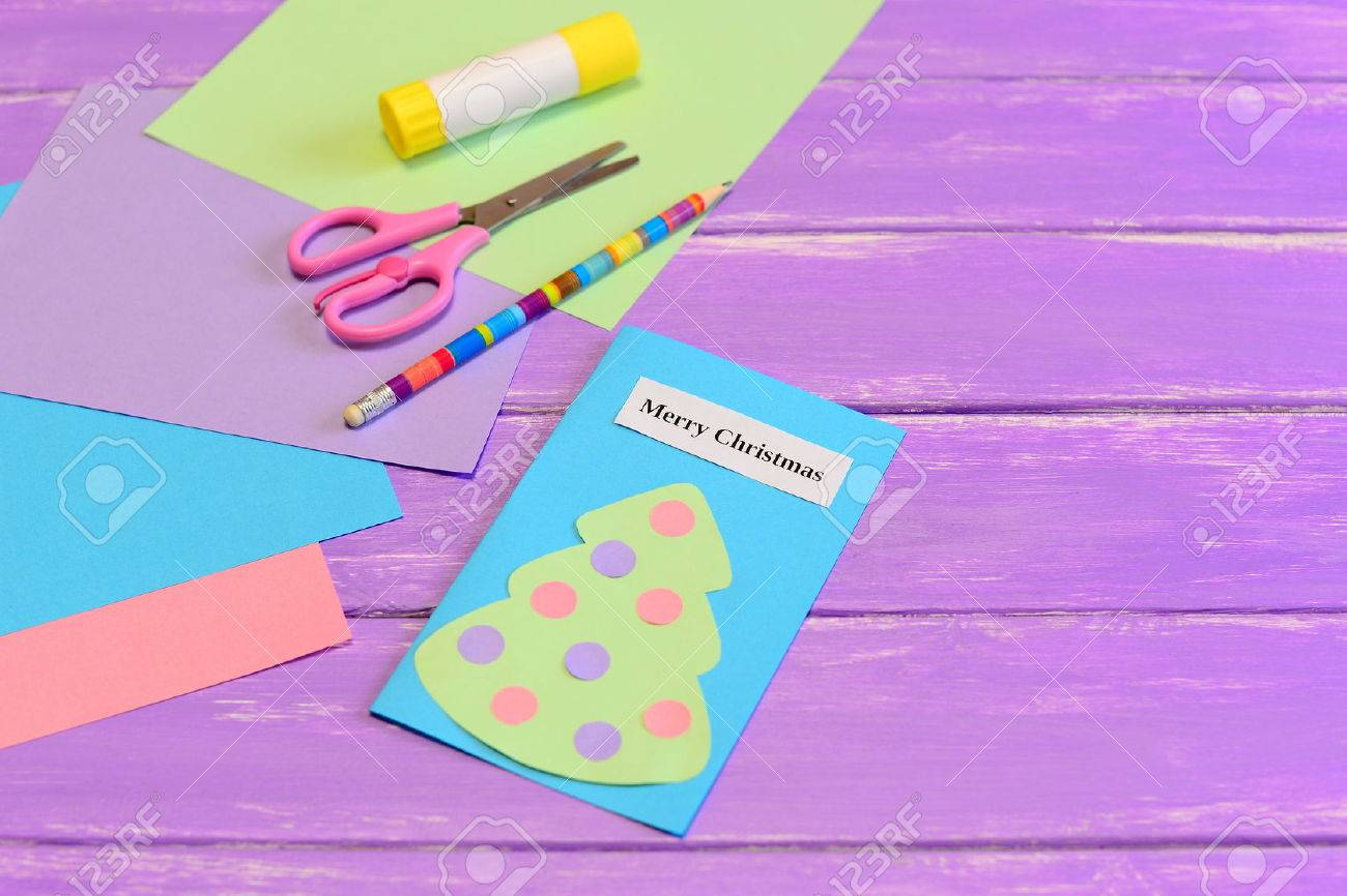 How to create simple christmas card crafts for kids tutorial how to create simple christmas card crafts for kids tutorial colored paper pieces kristyandbryce Choice Image