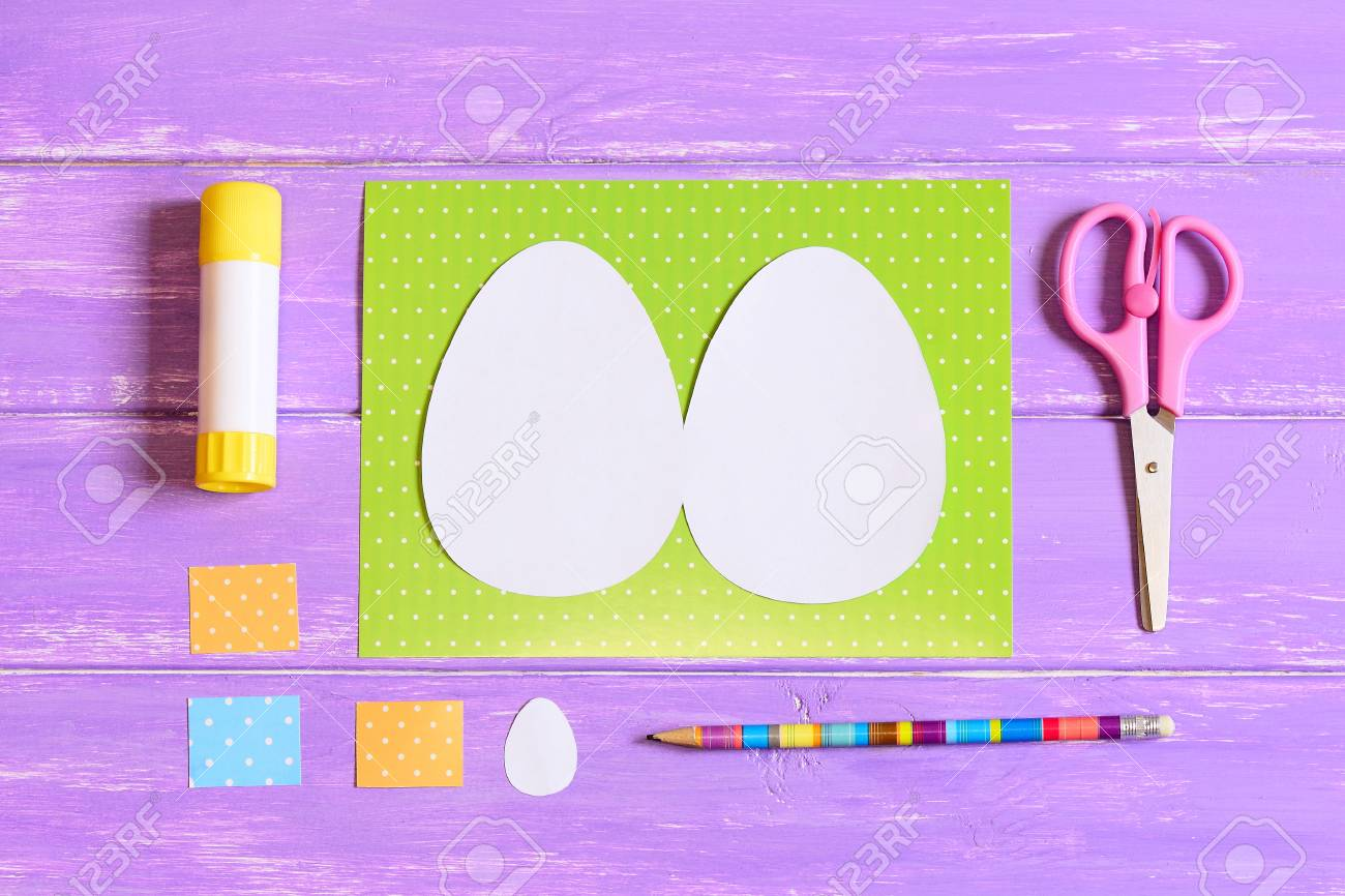 How To Make Easter Egg Greeting Card Step Tutorial Colored
