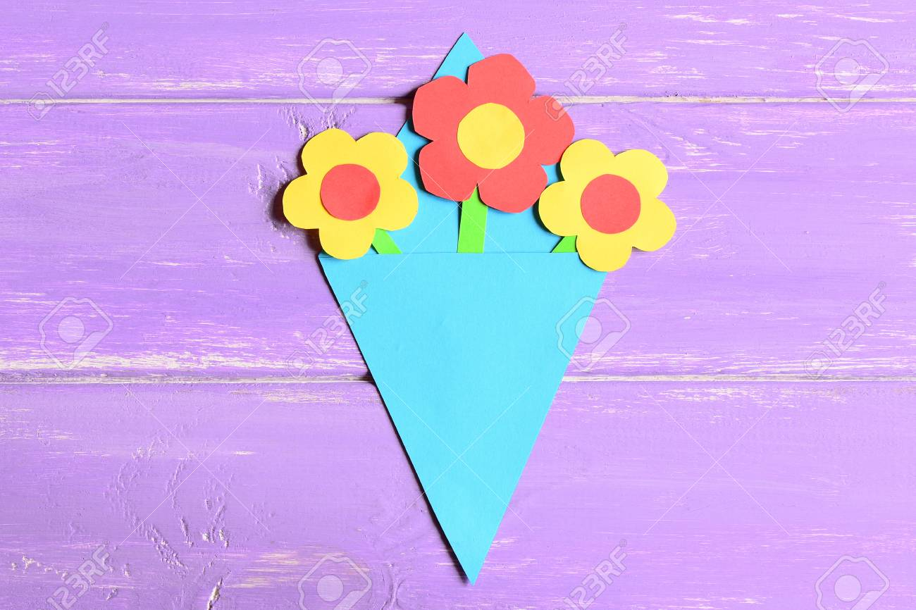 Making Paper Flowers Crafts For Mothers Day Or Birthday Step
