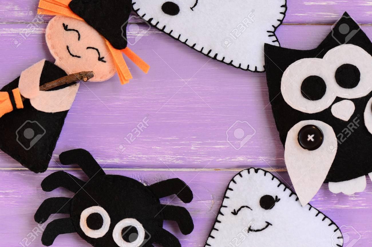 Manualidades Rapidas De Halloween Fieltro Bruja Fantasmas Buho - Manualidades-rapidas