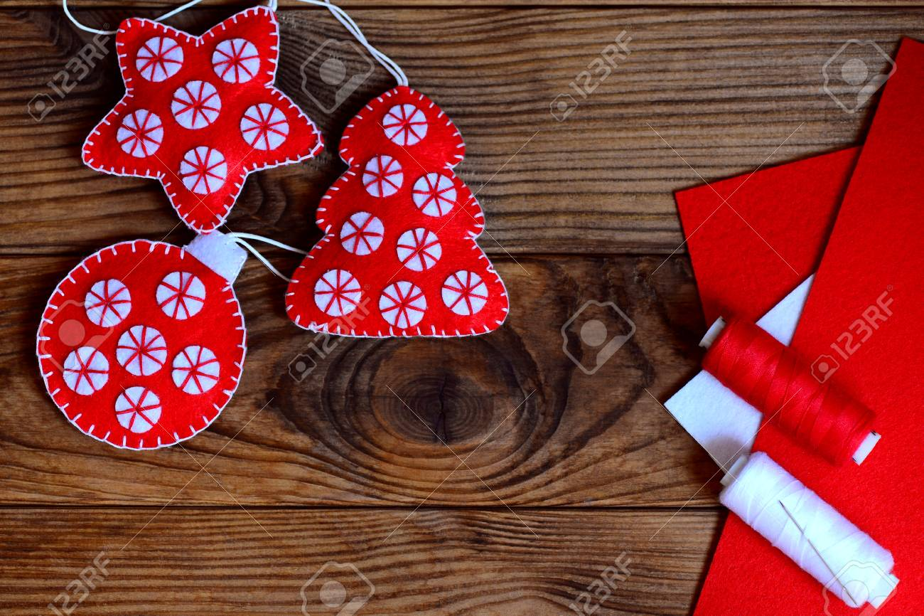 Easy Christmas Crafts Ornaments Felt Star Christmas Tree And