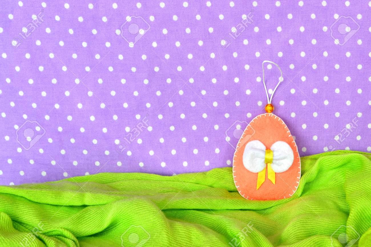 Felt egg easy easter crafts idea for easter diy decoration stock easy easter crafts idea for easter diy decoration and gifts stock photo negle Gallery
