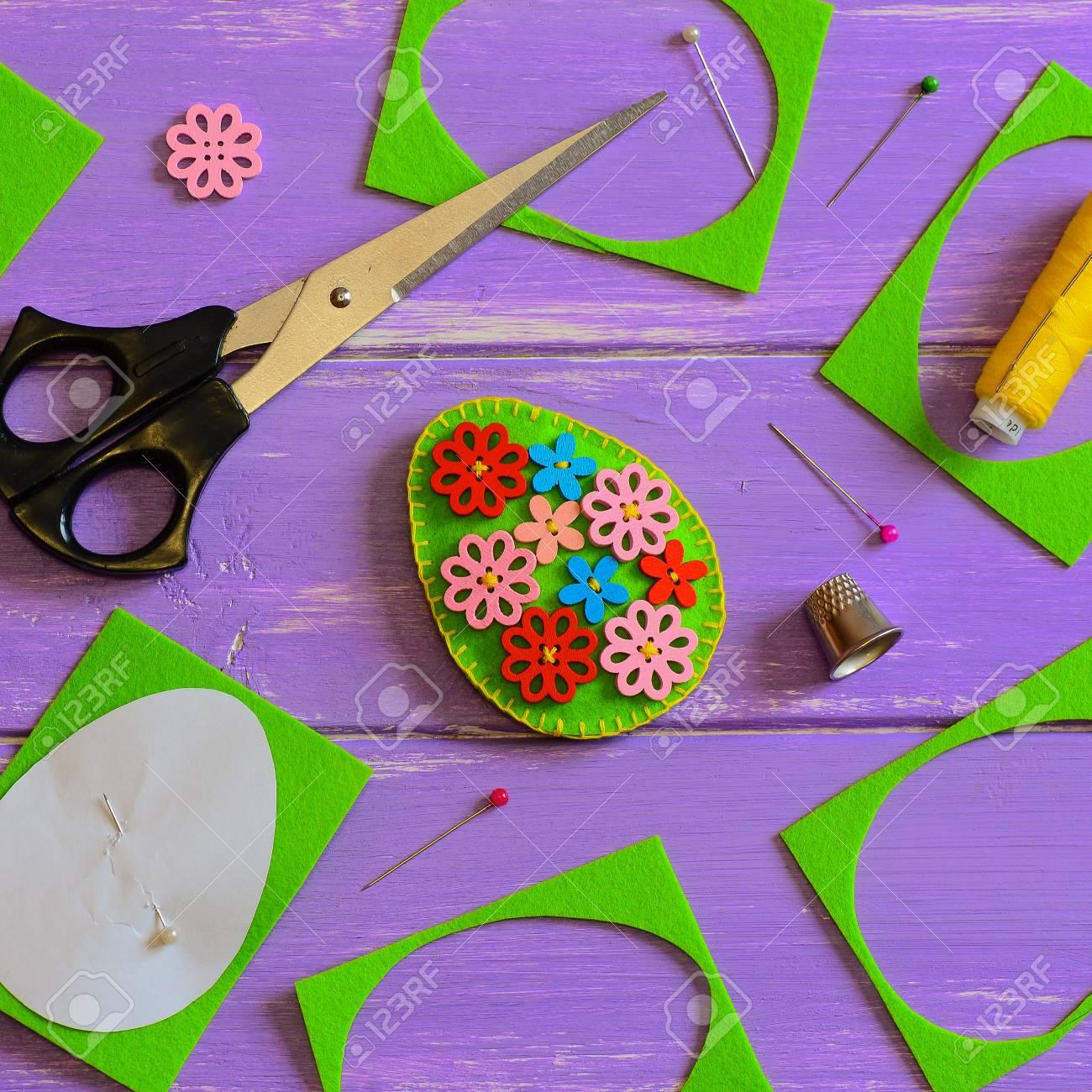 Simple Felt Easter Egg Decor Handmade Felt Easter Egg With Colored