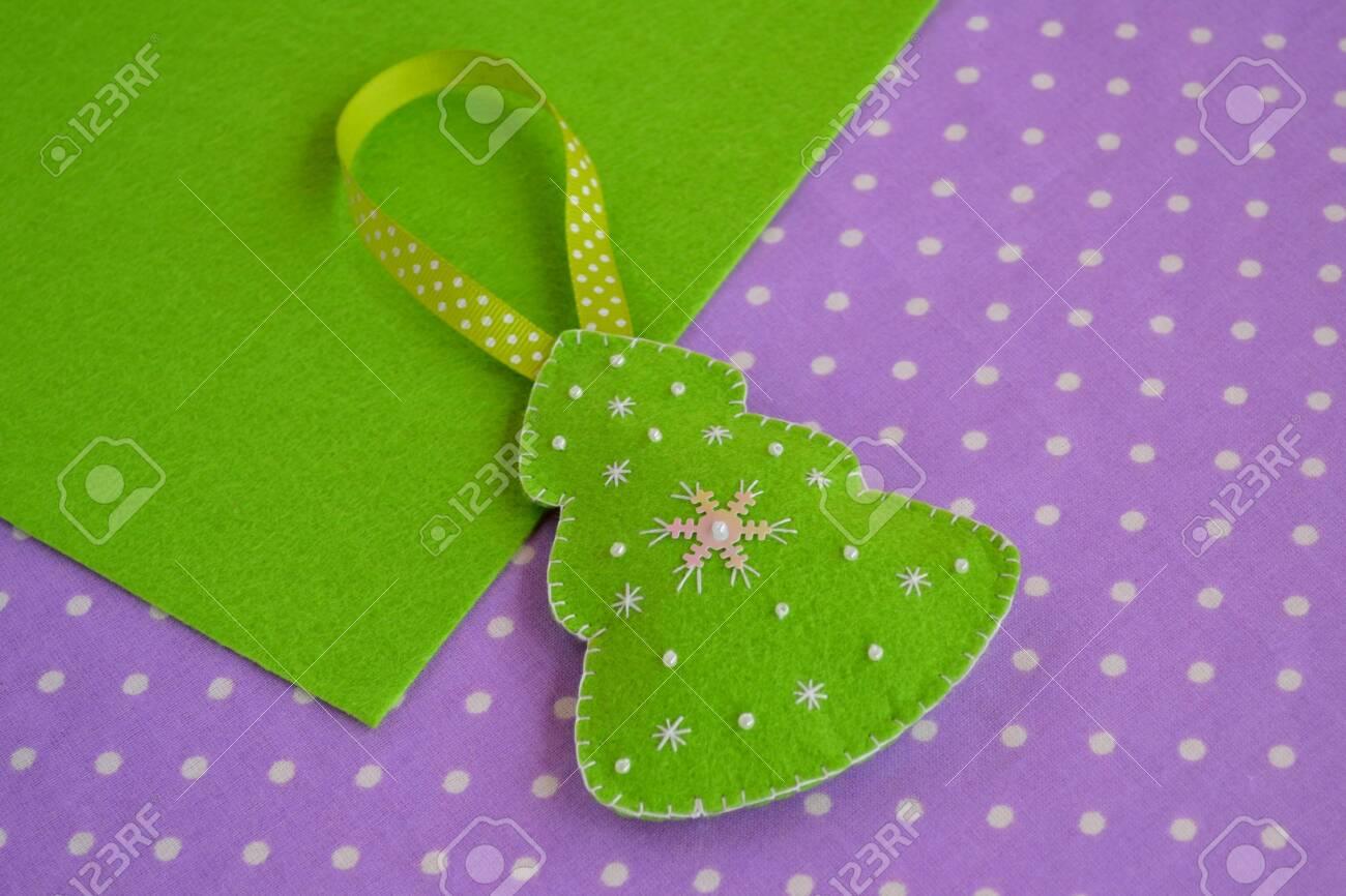 Christmas Tree Ornament Felt Crafts Handmade Felt Christmas Stock Photo Picture And Royalty Free Image Image 116958467