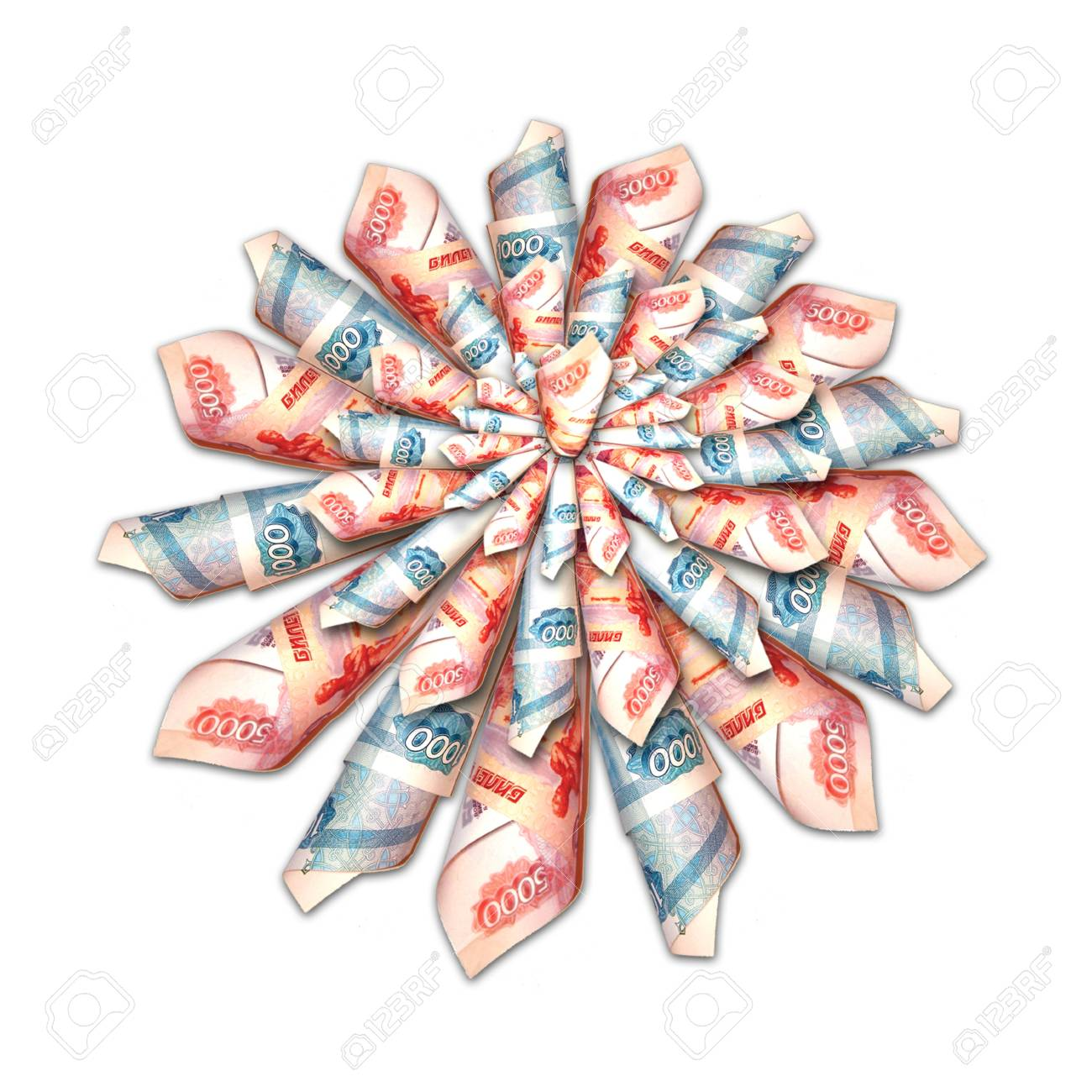Flowers out of money Stock Photo - 17013234