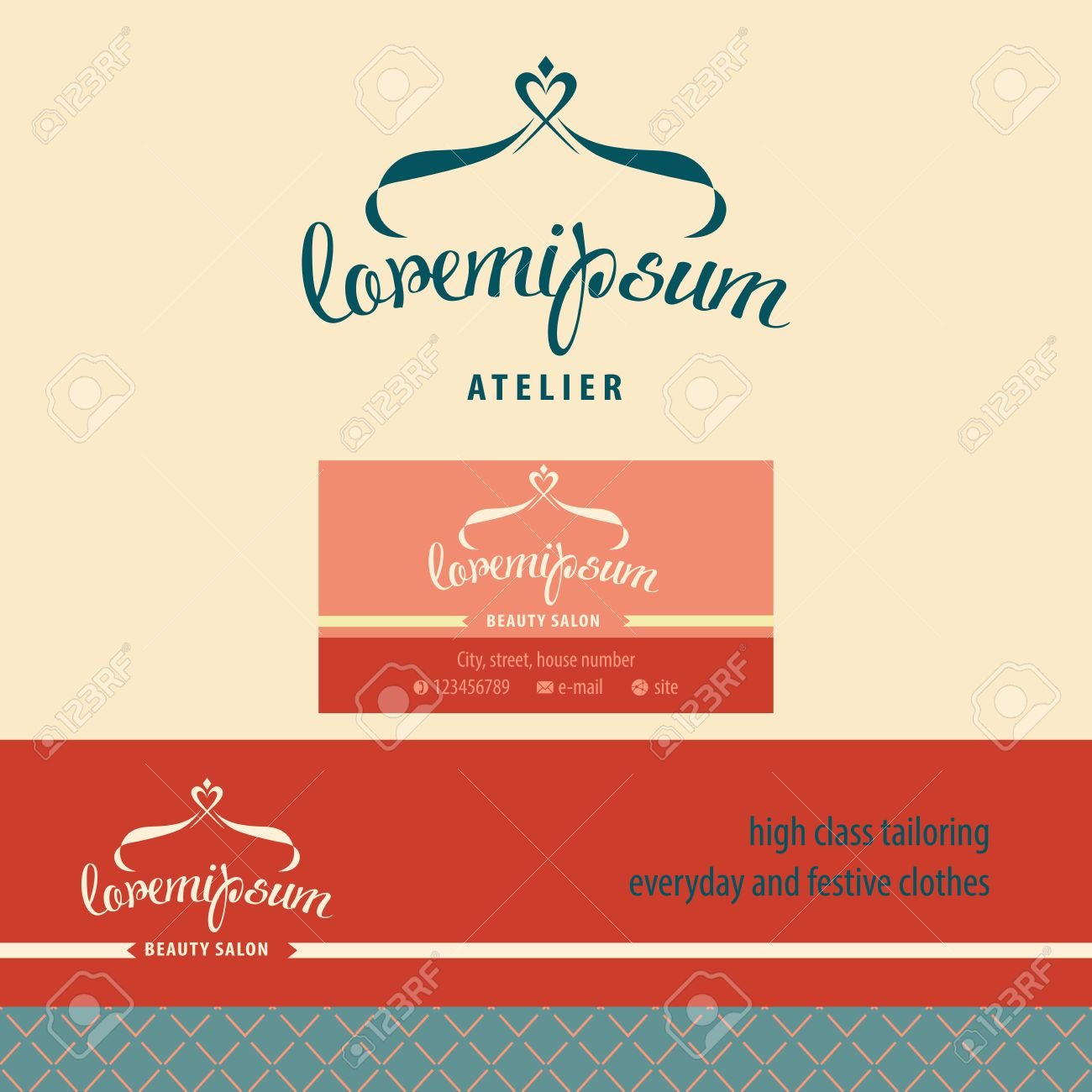 Vector Logo, Business Card And Banner For Atelier Royalty Free ...