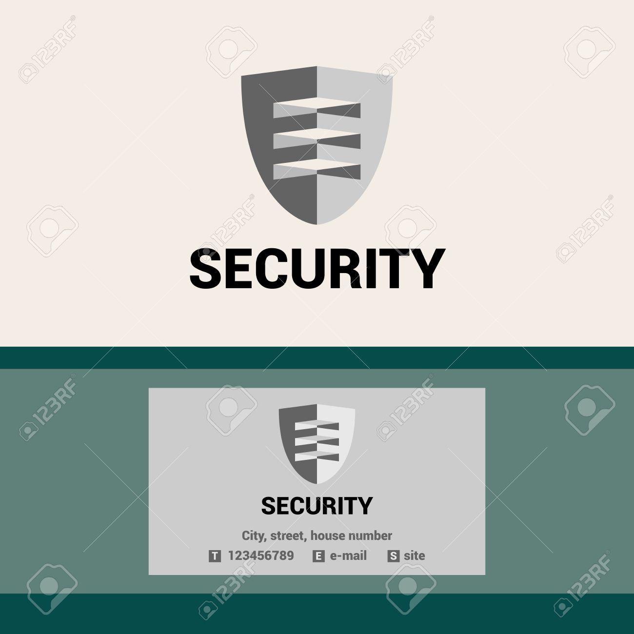 Editable template logo and business card for security organization editable template logo and business card for security organization the shield and visor stock colourmoves