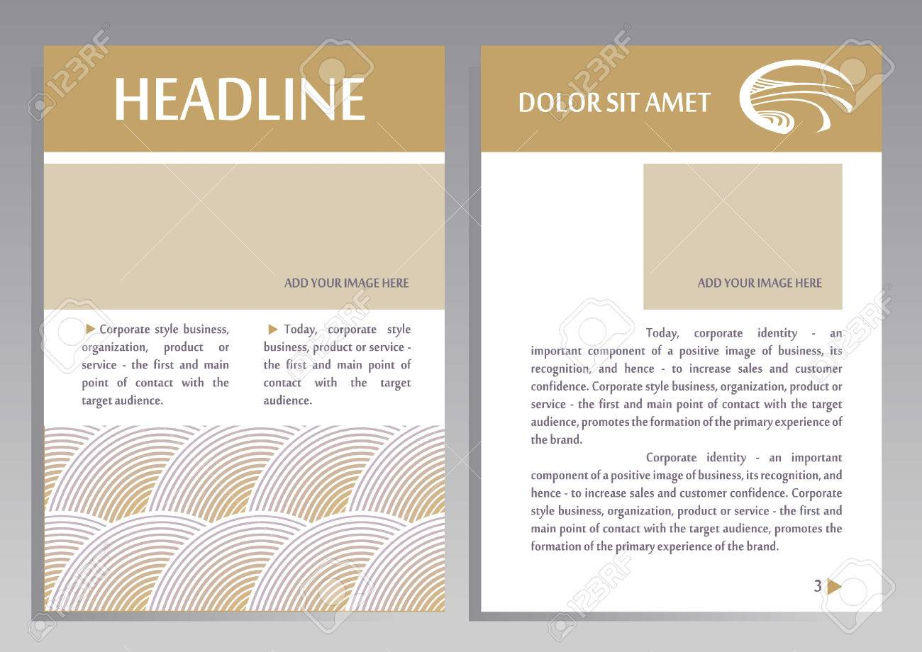 Brochure Flyer Design Vector Template In A4 Size Layout For – Point of Contact Template